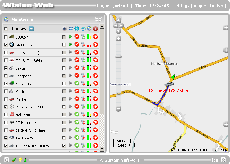 Click to view Wialon GPS Tracking screenshots