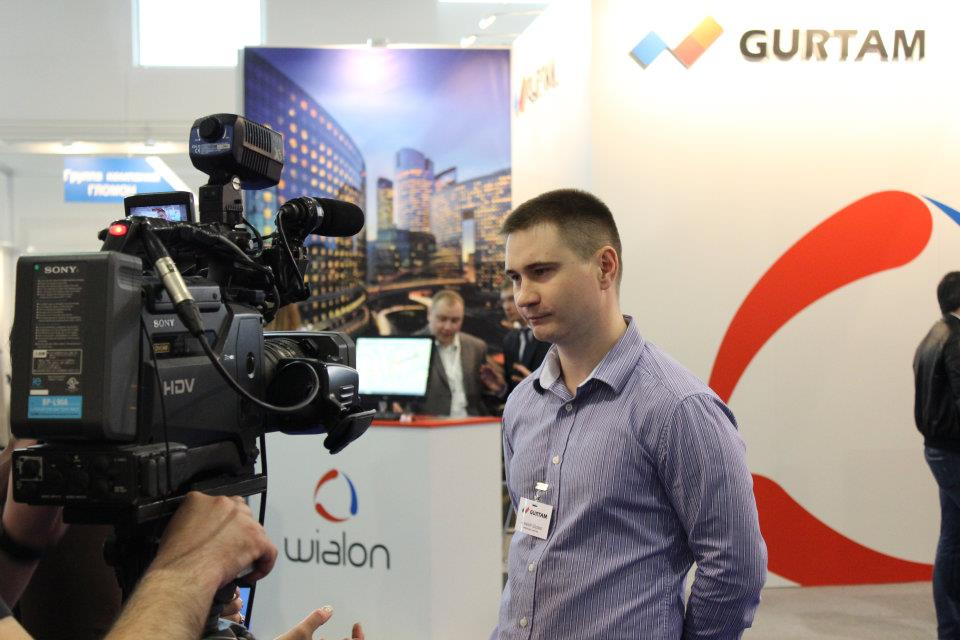 Alexey Shchurko gives the interview to mass media