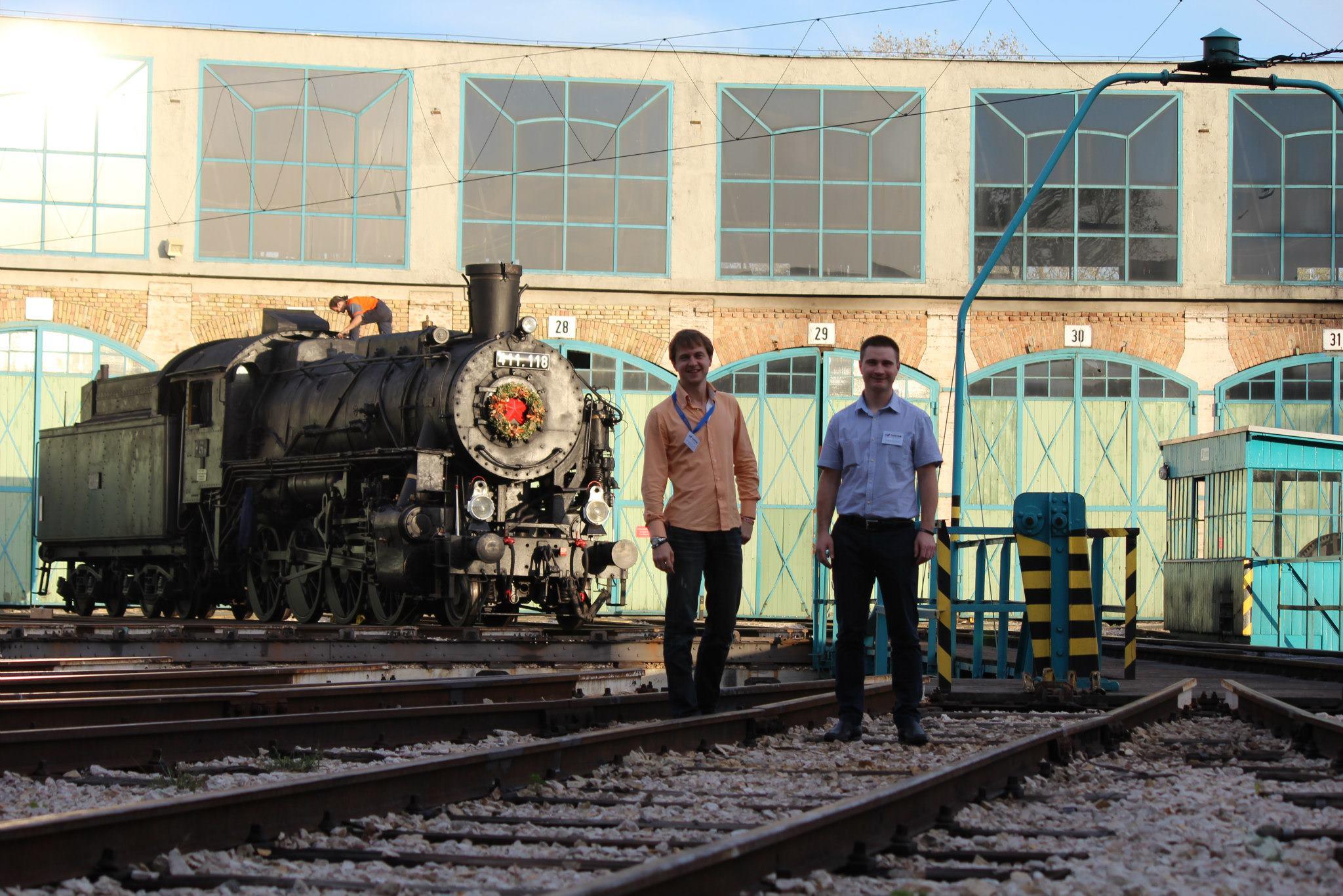 В железнодорожном музее Будапешта