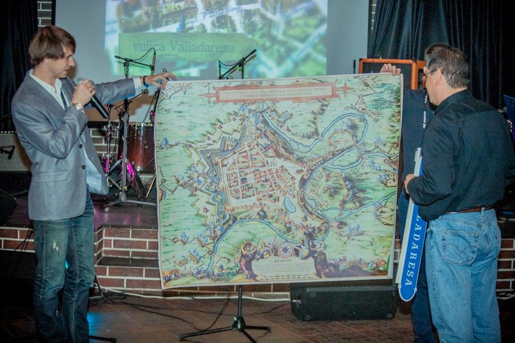 Карта средневекового города с улицами, названными в честь партнеров Gurtam