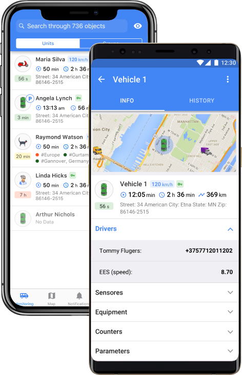 Wialon app for Android and iOS