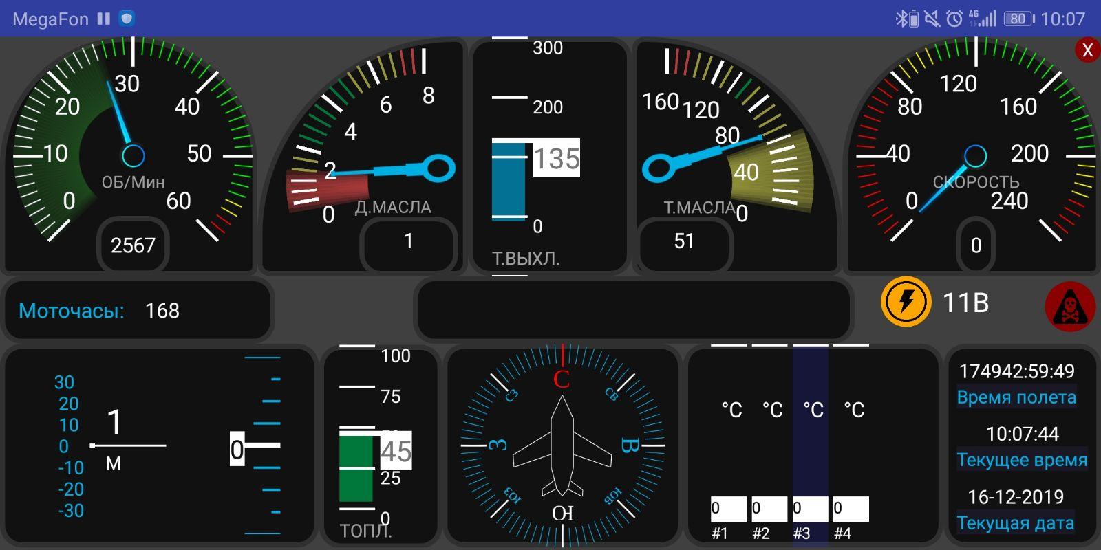 L'interface du tableau de bord numérique de l'avion intelligent