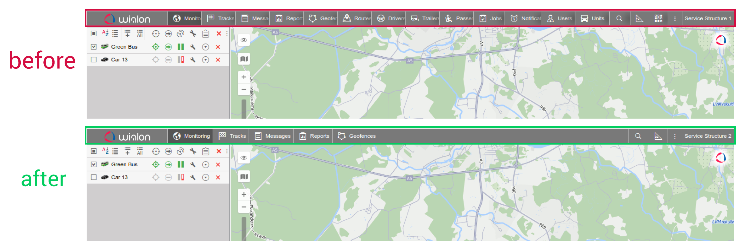 two versions of monitoring