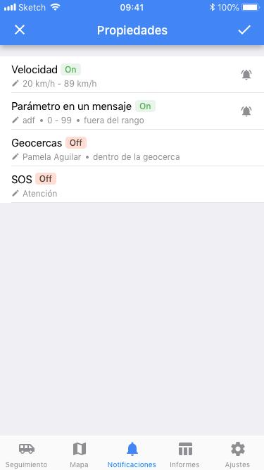 Funcionalidad de Wialon app