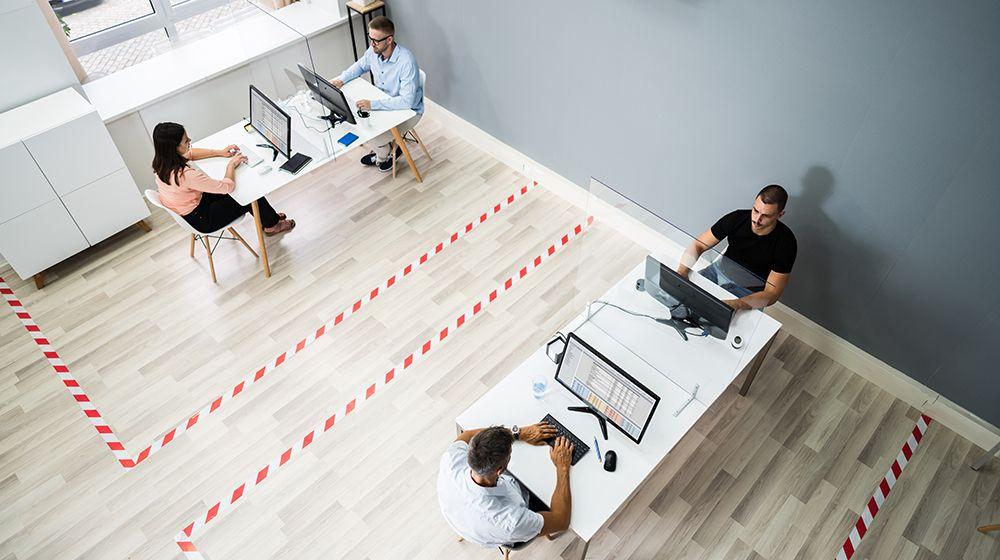 Garder la distanciation sociale au bureau