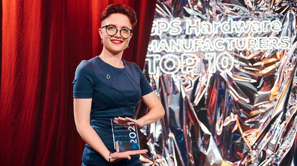 Kseniya Dolia at the GPS Hardware Manufacurers TOP 10 awards