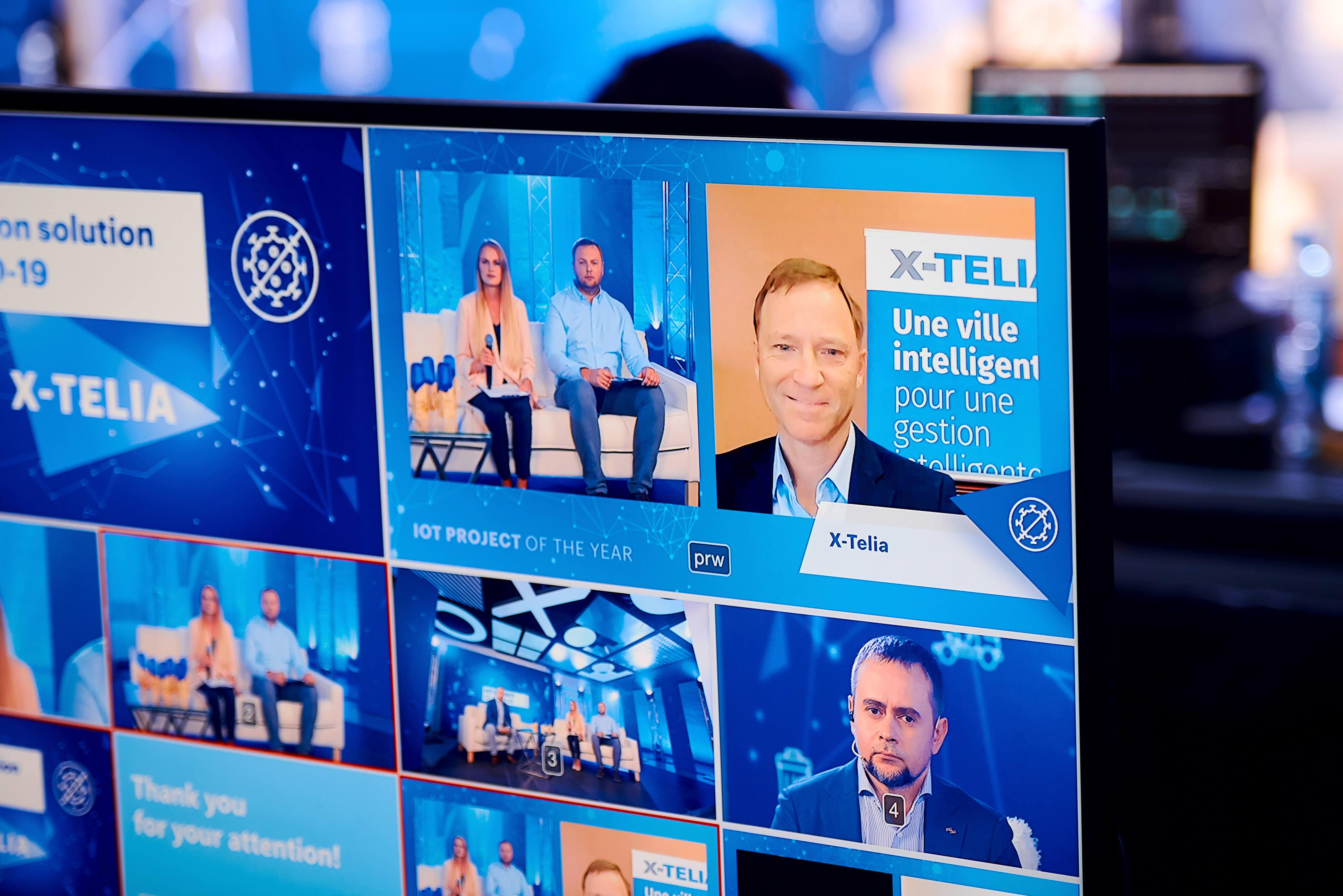 Команда X-Telia на церемонии награждения IoT project of the year