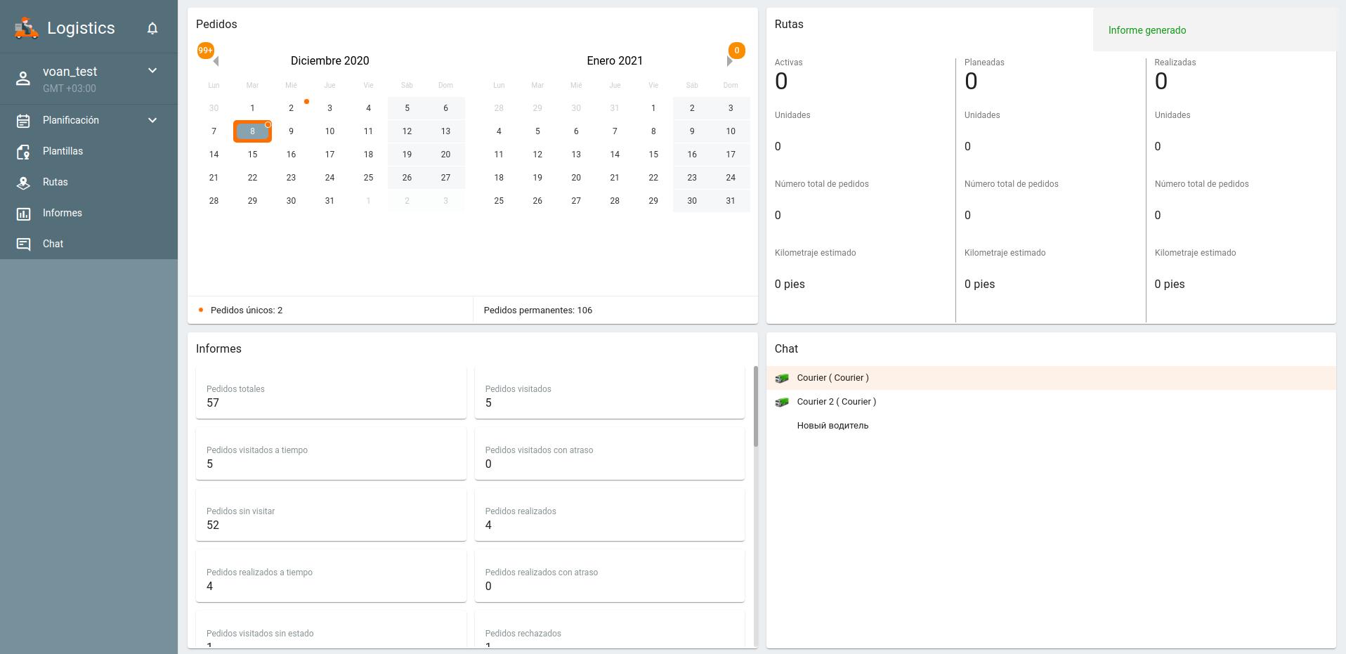 Rediseño de la interfaz: calendario