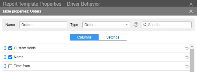 Custom fields filter